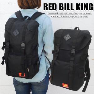 RED BILL KING マウンテン リュック メンズ レディース 高校生 人気 ナイロン デイパック 通学 おしゃれ スポーツ TN-02 黒