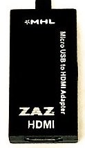 ZAZ MHL 変換アダプタブラック 充電可能 microusb to hdmi [FFPパッケージ]