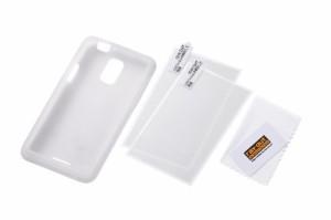 レイ・アウト HTC J ISW13HT ケース シルキータッチ・シリコンジャケット/ホワイト RT-ISW13HTC1/W