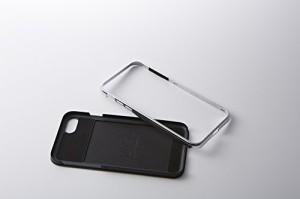 Deff ディーフ HYBRID Case UNIO for iPhone 7 Kevlar (iPhone 7 Plus, グロッシーブラック+アルミブラック)