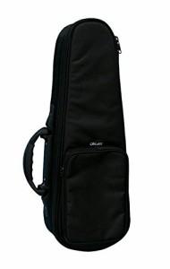 【ORCAS】 OULC-2 BLK  コンサートウクレレ用 セミハードケース (ブラック ショルダー付)