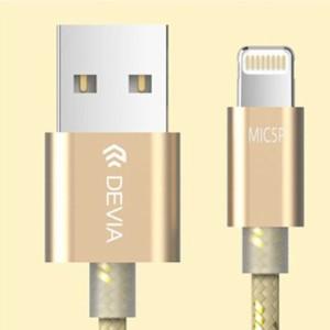 新技術共用プラグ ライトニング / アンドロイド両方挿せるUSBケーブル 2.4A対応 1.5m/ Devia iWonder(ゴールド) BLDVAC0013-GD