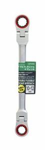 高儀 GISUKE ダブルフレキシブル ギアレンチ 10×12mm FGW-1012W