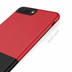 TORRAS iPhone7 plusケース アイフォン7プラスケース(スプライス式)軽量 全面保護 ハードケース (ブラック&ローズ)