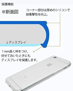 mtmd.jp iphone アイフォン 各種 対応 衝撃吸収 TPUシンプル 透明 クリア つるつるタイプ (iPhone X, ブルー)
