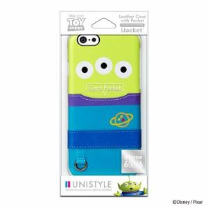 iPhone6s/6ケース/4.7インチ対応/ディズニーキャラクター/UNISTYLE/PUレザーケースポケット付き/エイリアン/ PG-DCS120LGM