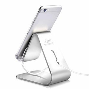 LOE スマホ スタンド・タブレット 全機種対応 Hi-Tech マイクロサクションパッド (シルバー)