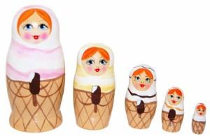 アイスクリーム 5人姉妹 (マトリョーシカ)