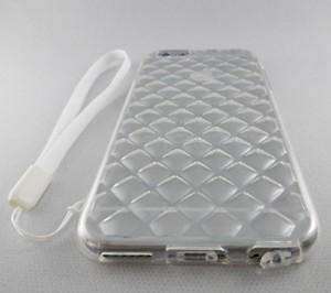 iPhone 6s ケース 透明 感動の クリスタル 模様 TPU 保護ケース / ナイロン ストラップ 付 / 耐衝撃 / 弾力性 / 滑明 Crystal TPU )