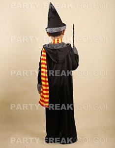 即席魔法使い! ハリーポッター 風 子供 衣装 (選べる3サイズ)a322 (110-120cm前後用)