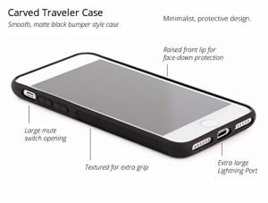 CARVED iPhone 7 用 トラベラーウッドケース ランダムパズル柄 天然木使用