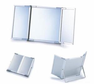 narumikk アルミ枠3面鏡スタンドミラー TW-38 42-038