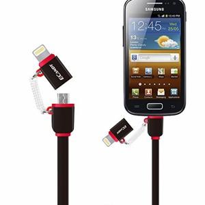 (Apple MFi認証取得)Ecandy プレミアムライトニングUSBケーブル充電ケーブル iPhone 6s / 6s Plus / ii 用 コンパクト端子 (黒)