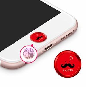 ホームボタンシール Sakula 指紋認証可能 iPhone7 iPhone7 Plus iPhone6s iPhone6 Plus iPhone5s iPad ホームボタンシール(レッド)