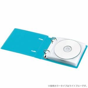 コクヨ CD/DVD用ファイル 透明ケース付 22枚収容 ライトピンク EDF-CF221LP