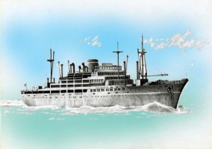 フジミ模型 1/700 特シリーズ No.19 大阪商船所属 あるぜんちな丸 プラモデル 特19