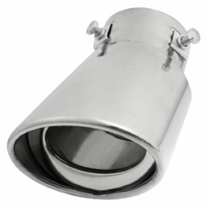 uxcell マフラーチップ 排気マフラー  排気パイプ テイルシリンダー型 1個入り