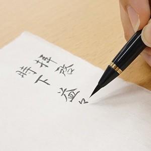 呉竹 筆ペン くれ竹万年毛筆蒔絵物語 桜園 赤 DU181-615