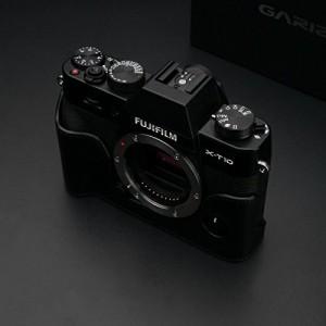 GARIZ FUJIFILM X-T10用 本革カメラケース Gun Shot Ring付 XS-CHXT10BK ブラック