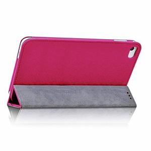 wisers 保護フィルム付 Huawei MediaPad T1 7.0, T1 7.0 LTE, ケイ・オプティコム T1K 7.0 LTE タブレット 専用 ケース カバー ピンク