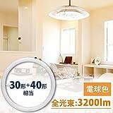 アイリスオーヤマ 蛍光灯 LED 丸型 (FCL) 30形+40形 電球色 LDFCL3040L