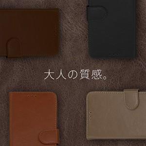 (ケートラ) iPhone8 ケース 手帳型 iPhone7 手帳型ブ型 フェイクレザー (iPhone8 / iPhone7, ブラック)