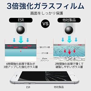 iPhone7 plus強化ガラスフィルム全面(フィルム貼る枠をゲット) ESR iphone7 plus全面液晶保護フ plusフィルム(ホワイト)