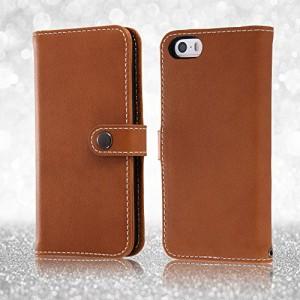 レイ・アウト iPhone SE/5s/5 ケース 手帳型ケース 本革 スナップボタン キャメル RT-P11RLC2/K