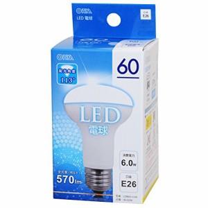 広配光 密閉器具対応 レフランプタイプ LED電球 E26/6W 昼光色 LDR6D-H A9