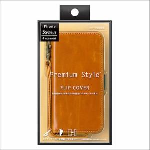iPhoneSE/5s/5ケース Premium Style フリップカバー キャメル PG-I5EFP10CM