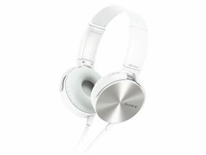 ソニー SONY ヘッドホン MDR-XB450 : 密閉型 折りたたみ式 ホワイト MDR-XB450 W