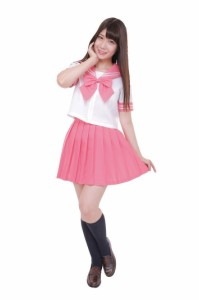 カラーセーラー コスチューム ピンク レディース Lサイズ