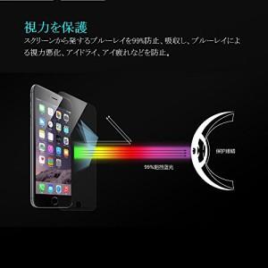 Cyxus(シクサズ) ブルーレイ青色光カット 紫外線輻射防止 9H強ス液晶保護フィルム Apple iPhone SE/5/5S/5C 用