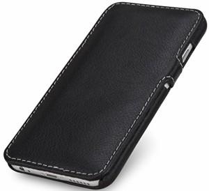 StilGut 手帳型 本革 Apple iPhone 6 & iPhone 6s レザーケース クリップ付 ブラック ナッパレザー