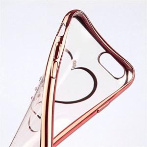 (ギジ)GIZEE iPhone 7 専用 オシャレ かわいい ハートォン 7対応 TPUメッキ加工  バンパー カバー (ローズゴールド)