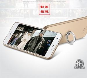 EtechMart Huawei novaケース ファーウェイnova専用 携帯カバー フィンガーリング付き スタンド機Shield スムーズ/レッド