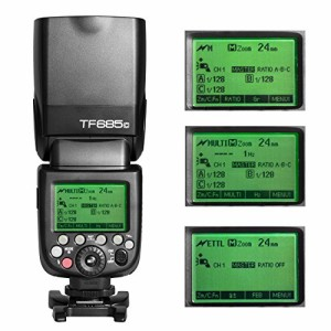TARION TF685C カメラフラッシュ スピードライト ストロボ E-TTL HSS 1/8000S S1 S2 2.4G ワイヤレスシステム内蔵 Canon Dslr デジタル
