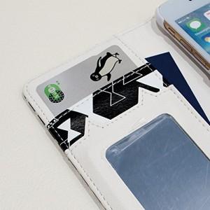 ケース; 手帳型 iPhone8 Sippo(シッポ) ケース カバーッポ) ケース カバー 《カード収納 ストラップホール ミラー 付き》