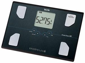 タニタ 体重・体組成計 インナースキャン50 メタリックブラック BC-313-BK
