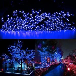 CVLIFE クリスマスイルミ&ソーラー充電式LEDイルミネーション&太陽発電(10m 100球)(発光モードは2パターン)(ブルー)自動的にON/O