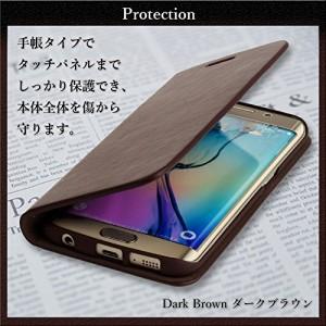 (F-grip) iPhone8 ケース / アイフォン8 ケース 手バー カードポケット レザー 革 (iphone8, ダークブラウン)
