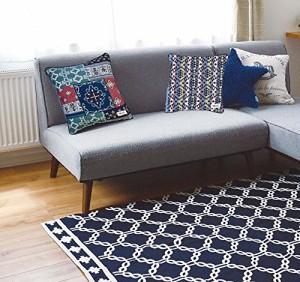 MISC. インド綿 織り コットン クッションカバー 45 × 45 cm ギャベ