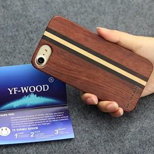 YFWOOD iPhone7ケース木 アイフォン7保護シート 高級感たっぷり自然を感じる夏に一番相応しい木製アイフォン7ー (iPhone7, 2#)