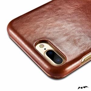 ICARER iPhone8 Plus ケース / 7 Plus ケーテージレザー マグネットタイプ 全3色 ブラック (日本正規代理店品)