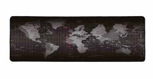 Cisicoマウスパッド大型 ゲーム向け 広く操作できる 世界地図で印刷黒いエッジ(90cm×40cmx3mm)