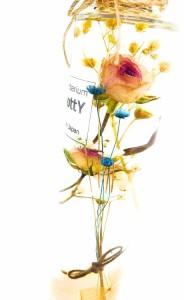 ★ローズをアンティークに可愛らしく♪★ 人気のBottYハーバリウム? 円柱瓶200ml1本(ナチュラル・ローズ)