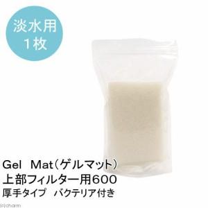 (熱帯魚)淡水用 厚手タイプ Gel Mat(ゲルマット)上部フィルター用600(バクテリア付き)(1枚)