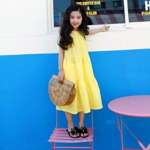 子供服 ワンピース 春夏 女の子 キッズワンピース ノースリーブ ロングワンピース チュニック 子供ドレス ジュニア おしゃれ 可愛い 涼し