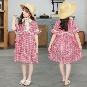 ワンピース キッズ 子供服 女の子 夏 キッズワンピース 半袖ワンピース ロング ストライプ 子供ドレス ジュニア 子ども お姫様 おしゃれ