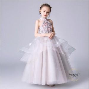 子供ドレス ロングドレス 発表会 女の子 ジュニア ピアノ ドレス ジュニア ワンピース 子どもドレス 演奏会 結婚式 キッズ 子供 コンクー